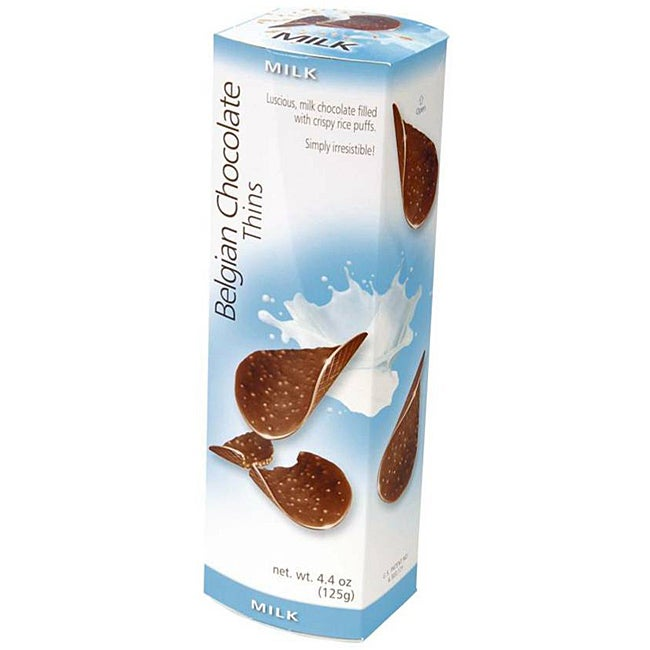 Belgian Chocolate Milk Chocolate Thins (Case of 12)