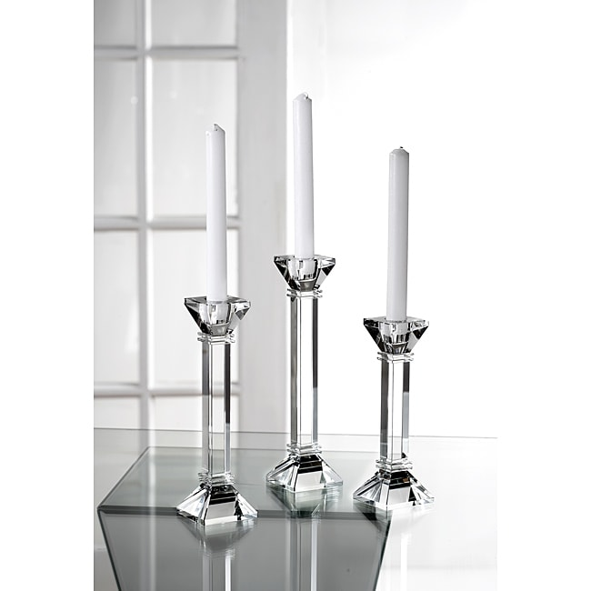 Fifth Avenue Crystal Wexford Candle Holders (Set of 3)