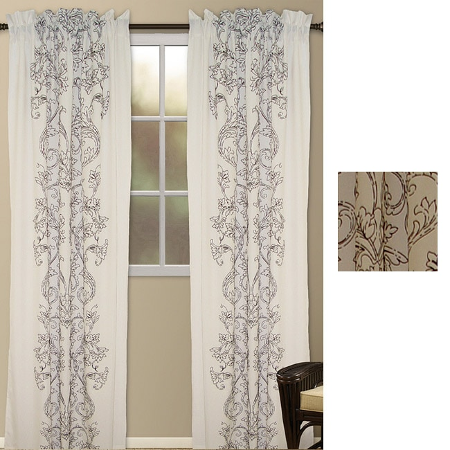 Wild Orchid Polyester 95-inch Curtain Panel Pair