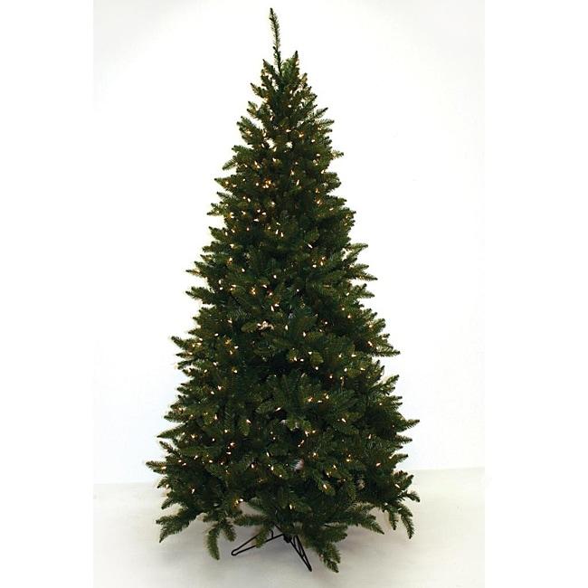 Good Tidings Slim Allegheny 650 Clear Lights 7.5-foot Christmas Tree