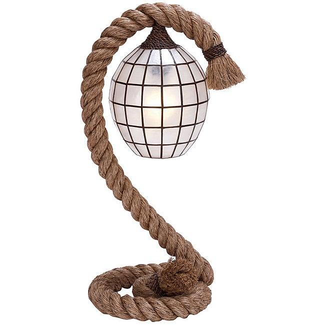 Nautical Rope Pier Metal Table Lamp
