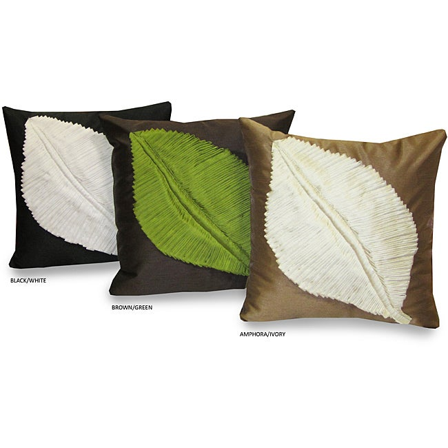 Meryl Leaf 17x17 Throw Pillow