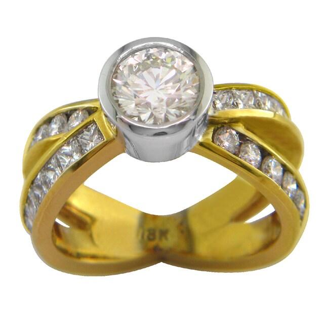 18k Gold 2 3/4ct TDW Certified Clarity-Enhanced Diamond Engagement Ring (I-J, VS2)