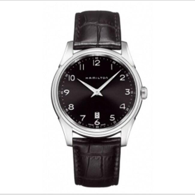 Hamilton Men's Jazzmaster Thinline Black Dial Watch