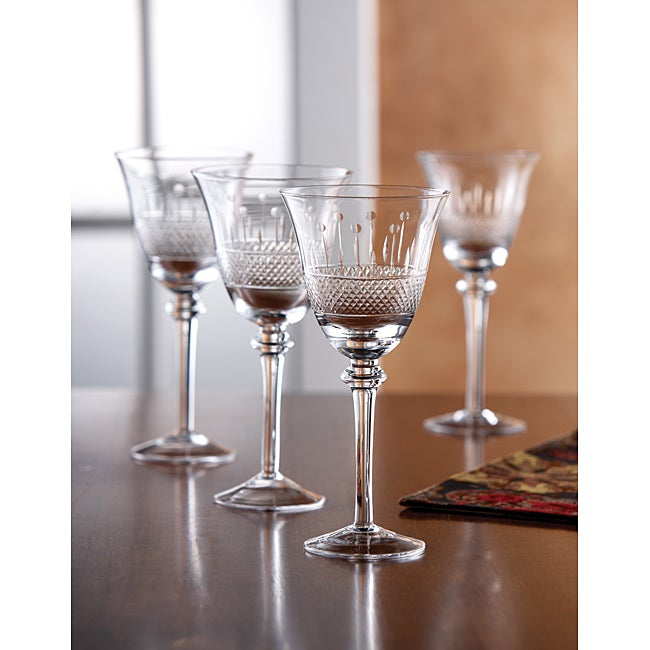 Fifth Avenue Crystal Kingston 14oz Wine Goblets (Set of 4)