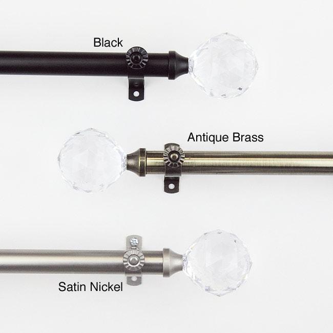 Glitter 48 to 84-inch Adjustable Curtain Rod Set
