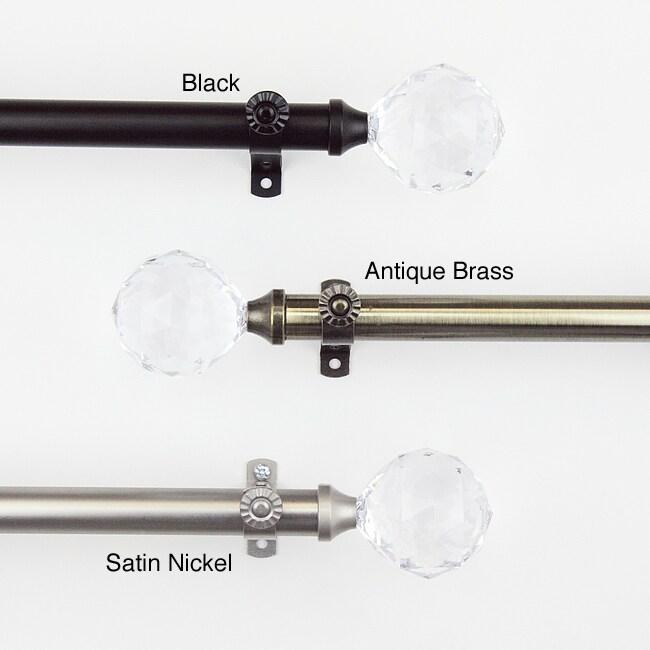 Glitter 28 to 48-inch Adjustable Curtain Rod Set