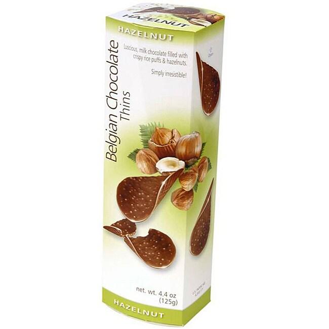 Belgian Chocolate Thins - Hazelnut, Case of 12