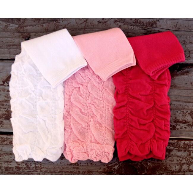 Three-piece Scrunchy Polyester/Spandex Leg Warmer Set