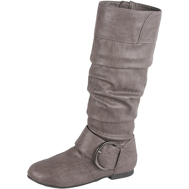 s grey baby 12 flat knee high boots