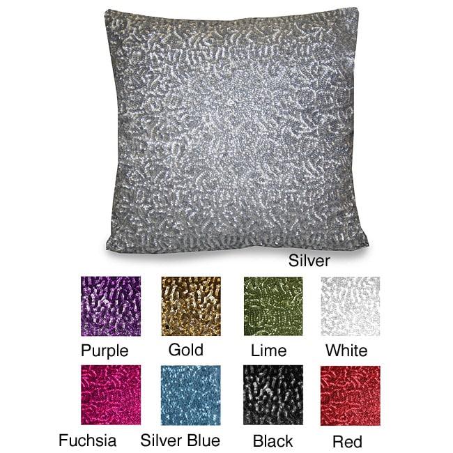 Rockefeller All Over Sequin Pillow (14 x 14)