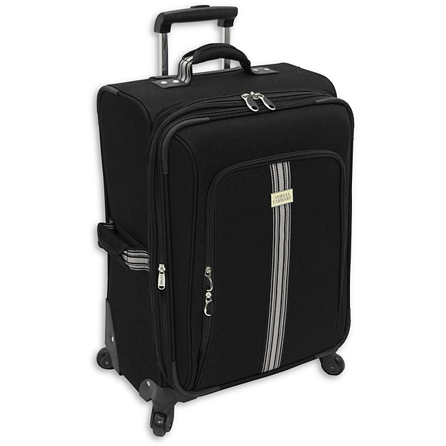 Amelia Earhart Black 24-inch Expandable Carry-On with Carrying Strap