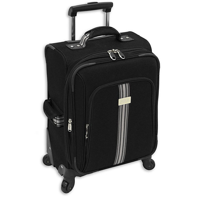 Amelia Earhart Runway Black 20-inch Expandable Carry-On Spinner Upright