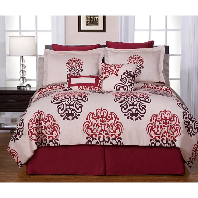 Cherry Blossom 8-piece Cal King-size Comforter Set
