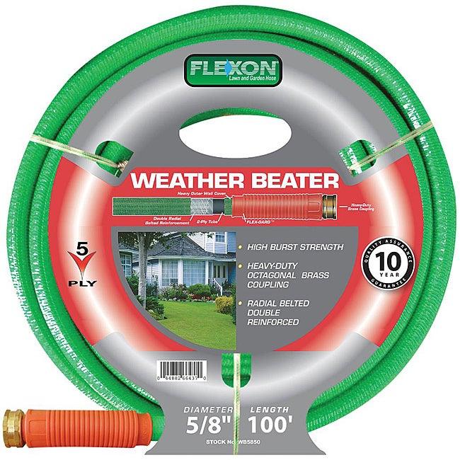 Flexon (0.625' x 100') Weather Beater Garden Hose