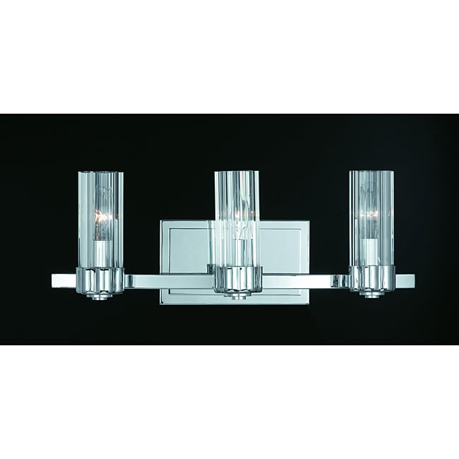 Triarch International Glacier Chrome 3-light Bathroom Fixture