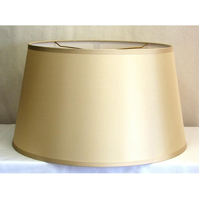 light beige hardback silk 39 drum 39 lamp shade 13996598. Black Bedroom Furniture Sets. Home Design Ideas