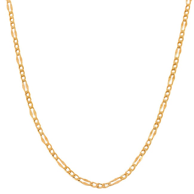 Fremada 14k Rose Gold 22-inch Fancy Figaro Link Chain