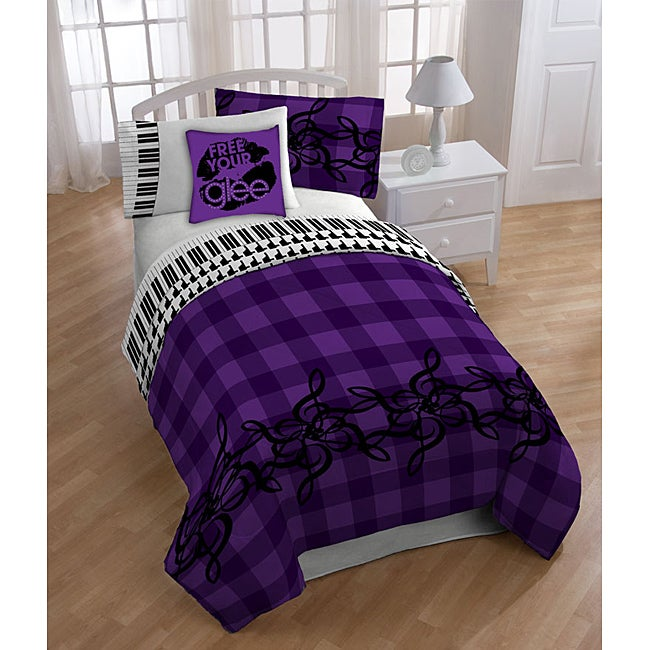 Glee 'Mercedes' Full-size 8-piece Reversible Bed in a Bag with Sheet Set