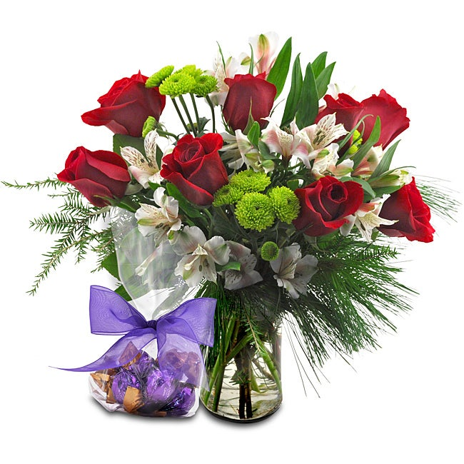 Sweets in Bloom 'Winter Solstice' Flower Bouquet with Godiva Chocolate Truffles