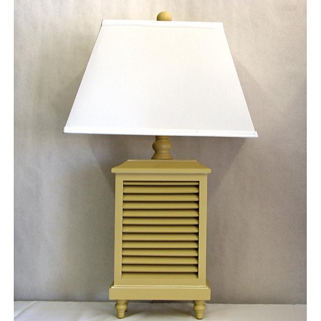 Light Sand Wood Shutter Lamp