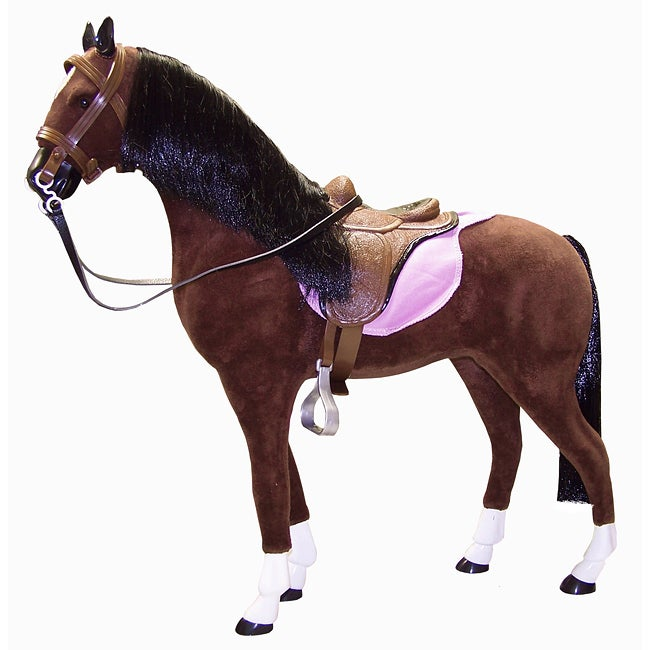 Thunder Horse with Saddle and Accessories (19-inch)