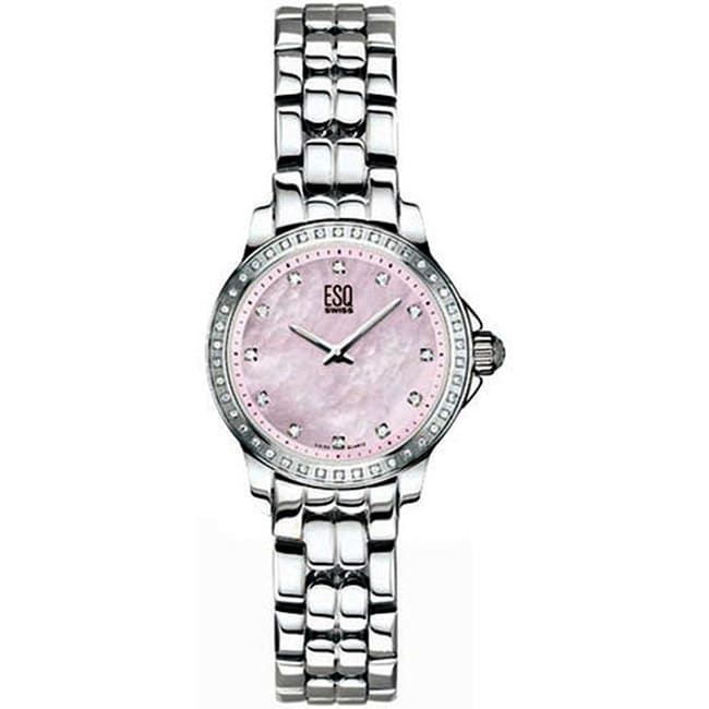 ESQ Women's Luxe Diamond Stainless Steel Watch
