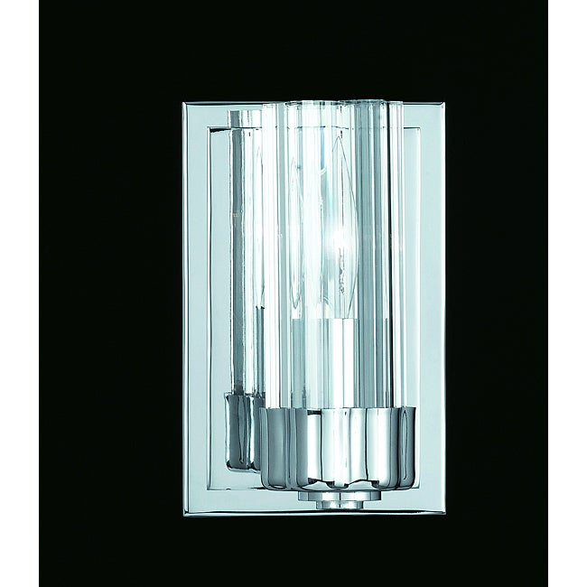 Glacier 1-Light Chrome Wall Sconce