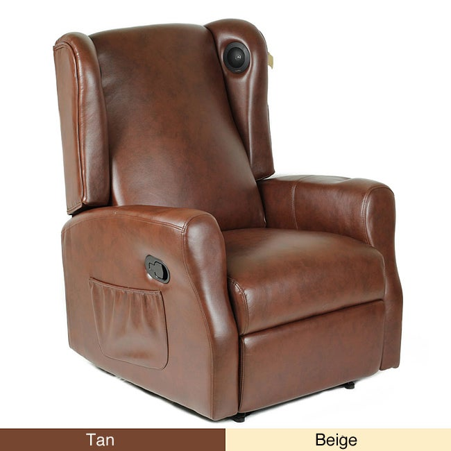 Wireless Gaming Home Theater Leather Recliner Chair With