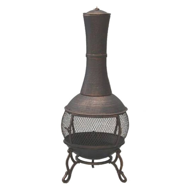 Garden Odyssey Cast Iron Antique Bronze Chiminea 14018257 Overstock Com Shopping