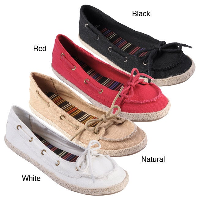 Journee Collection Women's 'Singing' Slip-on Boat Shoes