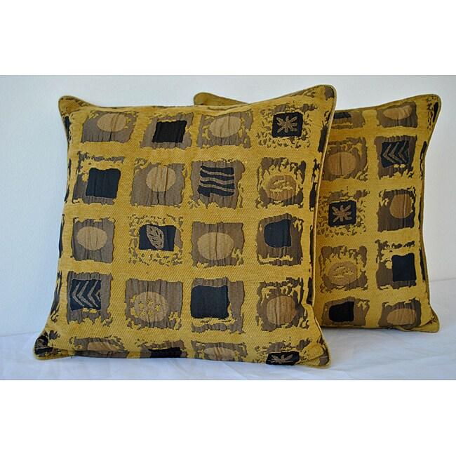 Shery Kline Majesty Mustard-Yellow Pillow (Set of 2)