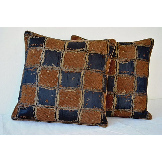 Sherry Kline 18-Inch Gallantry Brown and Black Pillow (Set of 2)