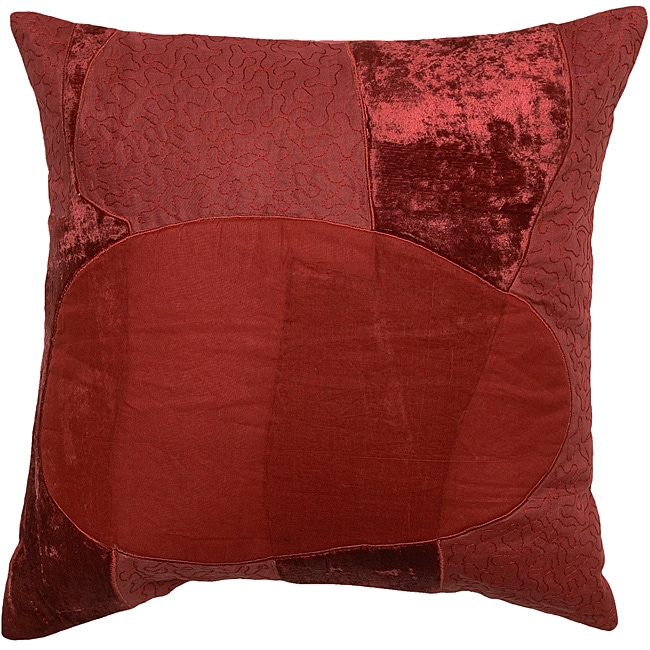 Macquarie Burgundy Abstract Decorative Pillow