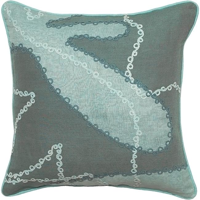 Ballarat Seafoam/ Jade Down Decorative Pillow