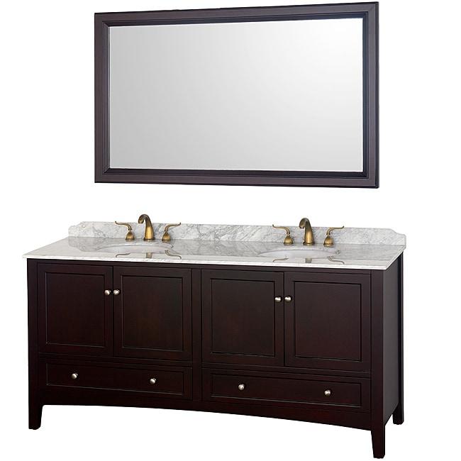 Wyndham Collection Audrey Espresso 72-Inch Double Bathroom Vanity