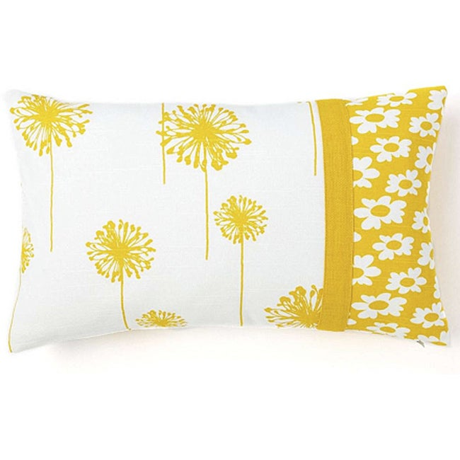 Dandelion Daisy 12x20-inch Pieces Decorative Pillow