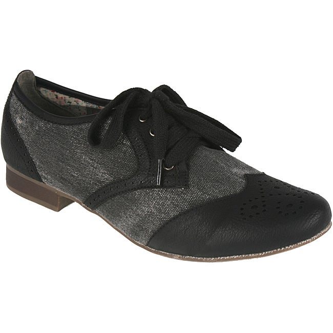 Elegant Women's 'Perdy-1' Black Oxford