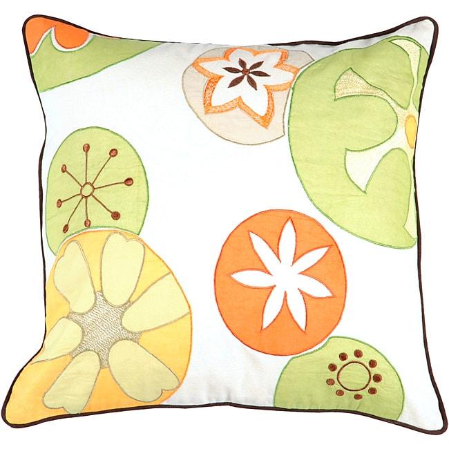 Decorative Thurst Medium Multicolored Square Down Pillow