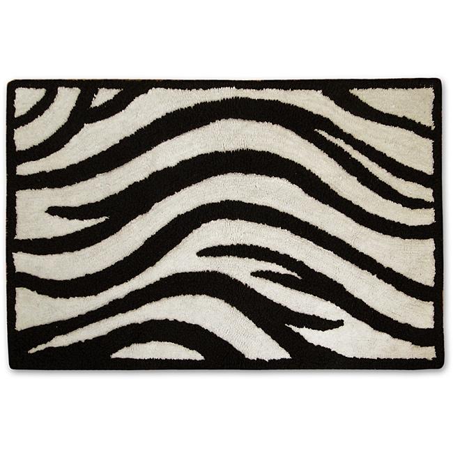 Jovi Home 'Zebra' Cotton Bath Mat