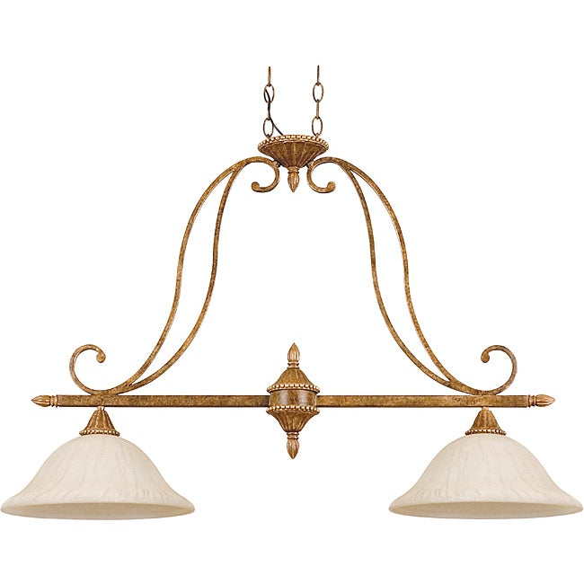 Luminance 2-Light Island Pendant Fixture