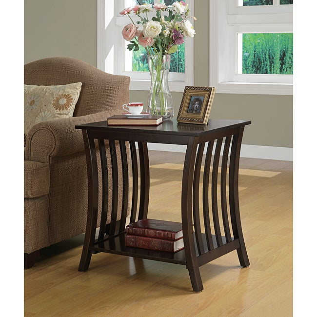 Cappuccino Wood Accent Table