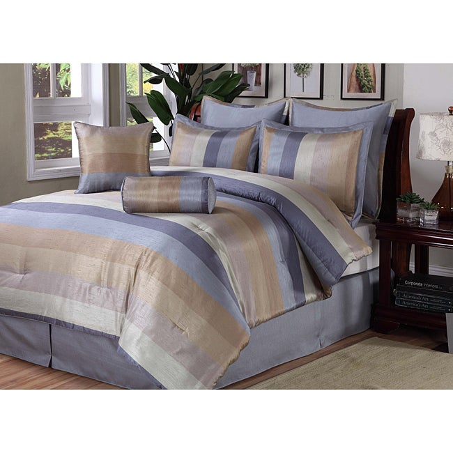 Meadow 8-piece California King-size Comforter Set
