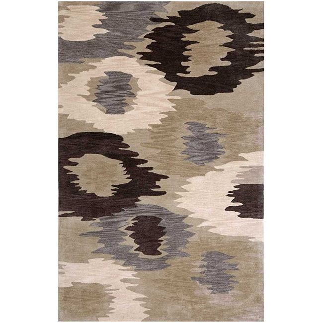 Hand-tufted Brown Area Rug (2' x 3')