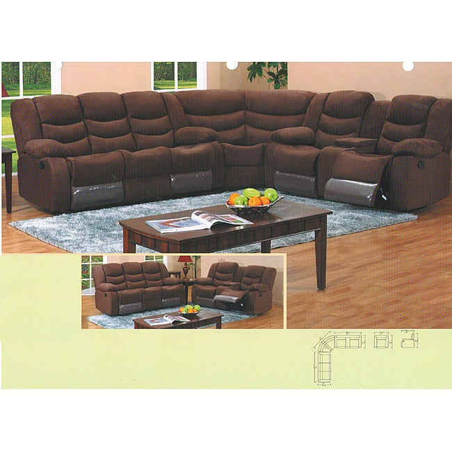 Jakarta 3-piece Reclining Console Storage Sectional Set