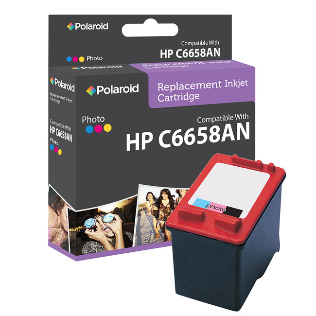 HP 58 Photo Ink Cartridge by Polaroid (Remanufactured)