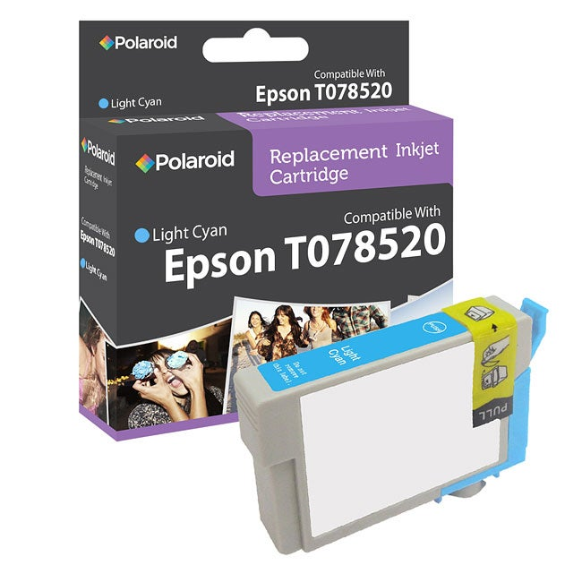 Epson 78 Light Cyan Ink Cartridge by Polaroid (Remanufactured)