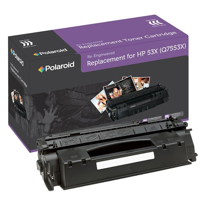 HP 53X Black Toner Cartridge by Polaroid (Remanufactured)