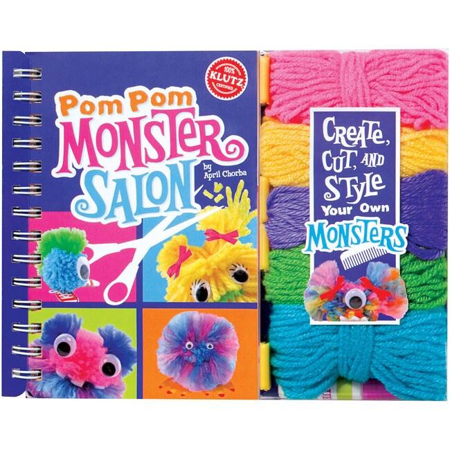 Klutz 'Pom-Pom Monster Salon Book' Kit