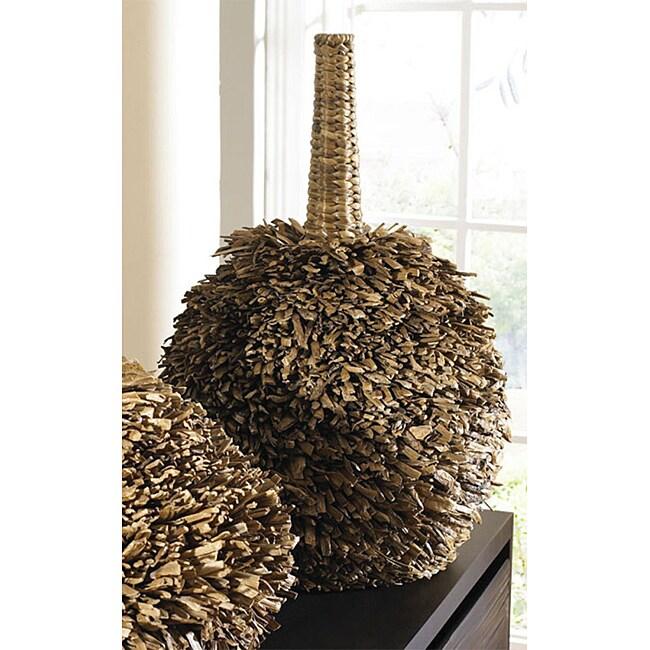 Tall Fuzzy Abaca Vase